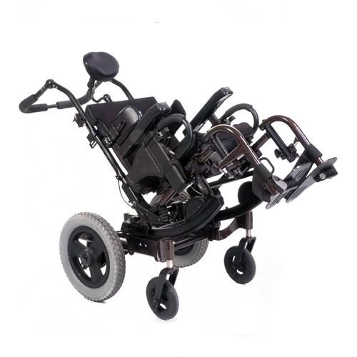 Black Rehab Tilt in Space Wheelchair for Rental