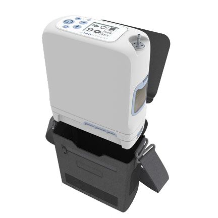 Inogen One G5 Portable Oxygen Concentrator being Placed into a Case