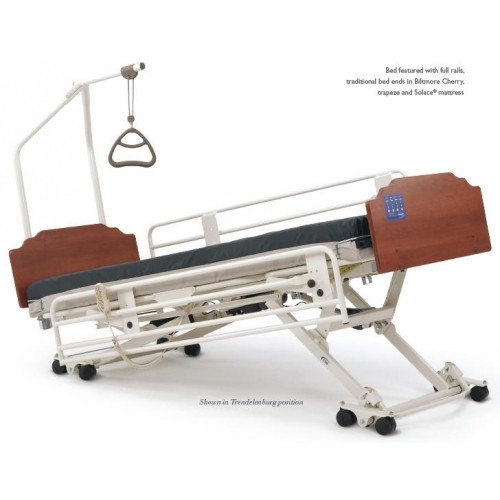 Invacare Carroll CS7 Hi-Low Hospital Bed with One Side Lowered