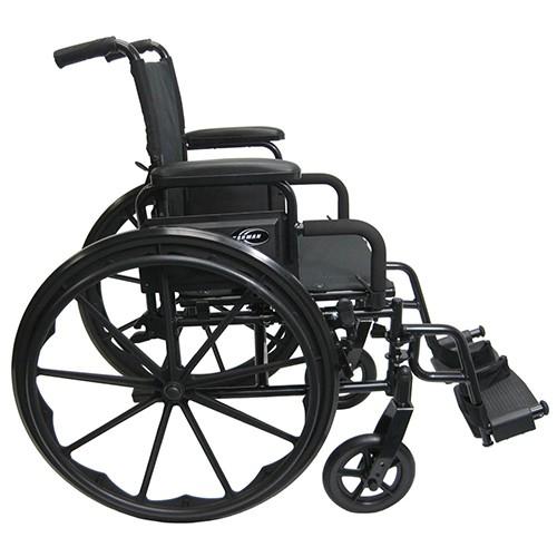Side view of Black Karman 802-DY Lightweight Wheelchair