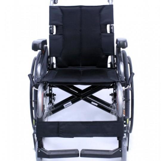 Front view of Karman Flexx Ultra Lightweight Wheelchair