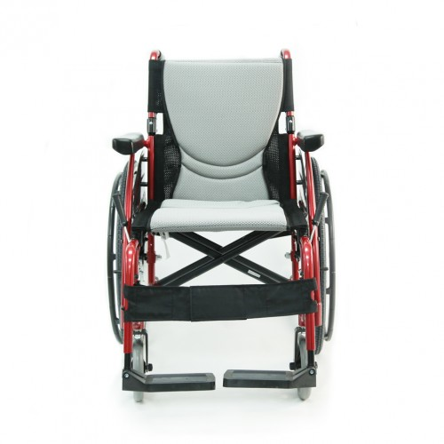 Front view of Karman S-Ergo 115 Ultralight Folding Wheelchair