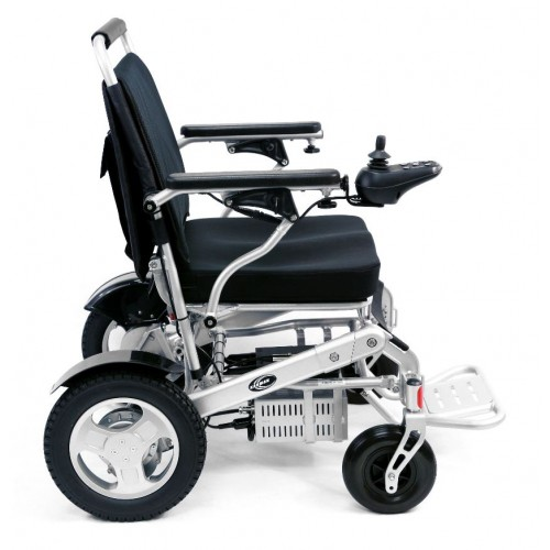 Side View of Karman Tranzit Go Foldable Lightweight Power Wheelchair