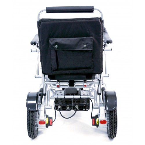Back View of Karman Tranzit Go Foldable Lightweight Power Wheelchair
