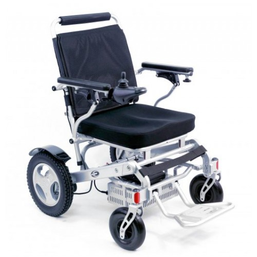 Front View of Karman Tranzit Go Foldable Lightweight Power Wheelchair