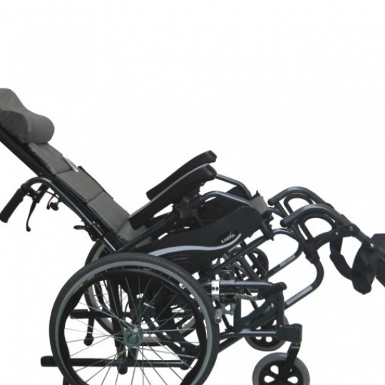 Karman VIP-515 Tilt In Space Wheelchair in tilted position