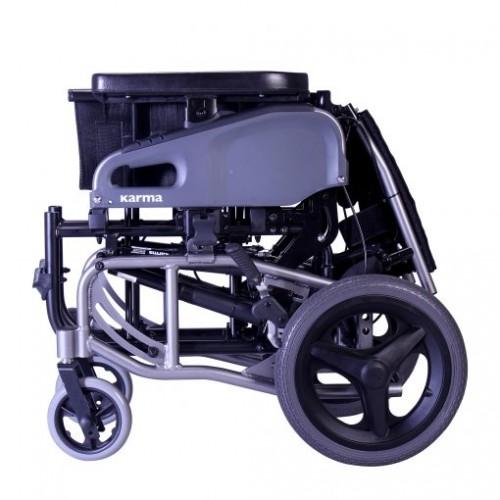 Folded Karman VIP2 Tilt in Space Reclining Transport Wheelchair