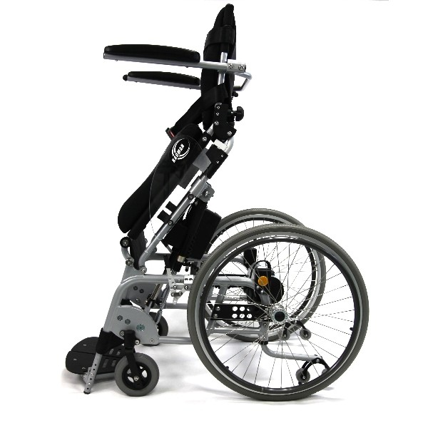Side view of Karman XO-101 Ergonomic Wheelchair with Power Stand-Up