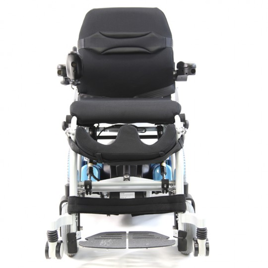 Front view of Karman XO-202 Ergonomic Power Stand-Up Wheelchair