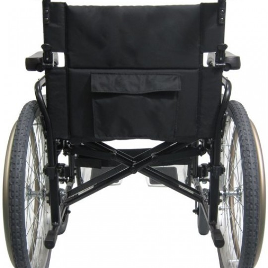 Back view of Karman Extra Wide Lightweight Heavy Duty Wheelchair