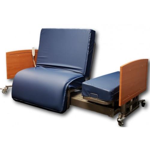 med mizer standard active care bed wood frame blue