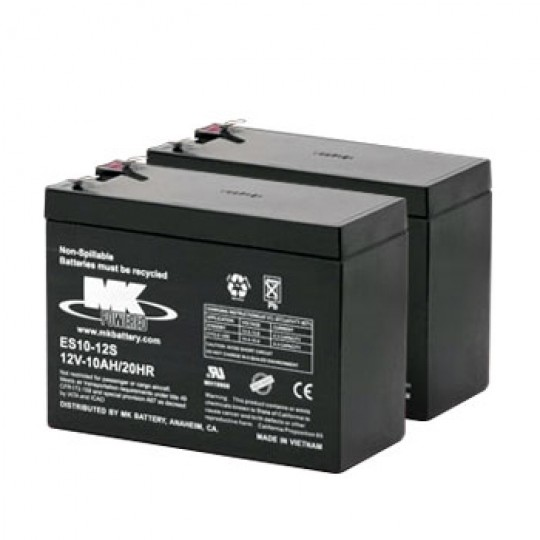 Pair of MK 12V 10AH Sealed AGM Batteries