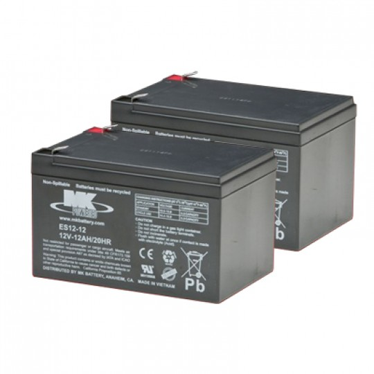 MK Battery 12V 12 AH Sealed Lead Acid (Pair)