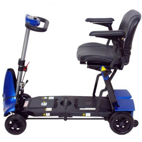 Side View of Blue Mobie Plus Folding Scooter