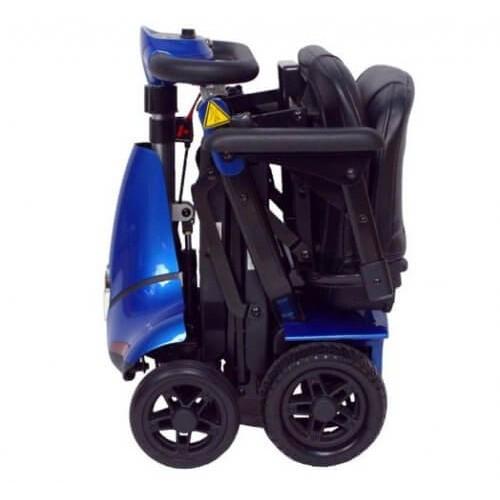 Folded Blue Mobie Plus Folding Scooter