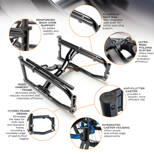 Different Parts of Motion Composites Helio A7 Wheelchair
