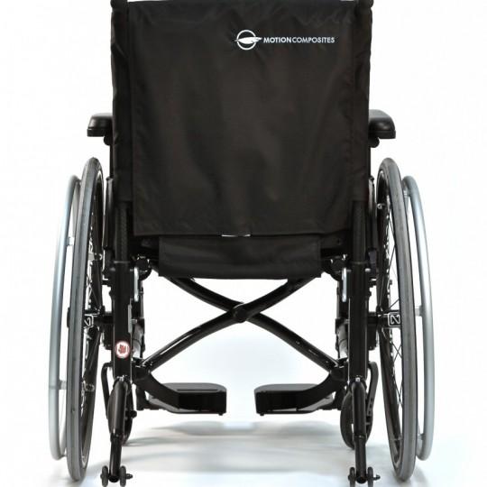 Back view of Motion Composites Helio C2 Ultralight Folding Carbon Fiber Wheelchair