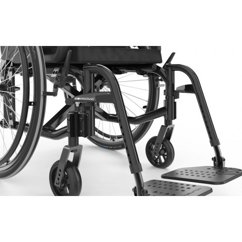 Footrest of Black Motion Composites Move Wheelchair