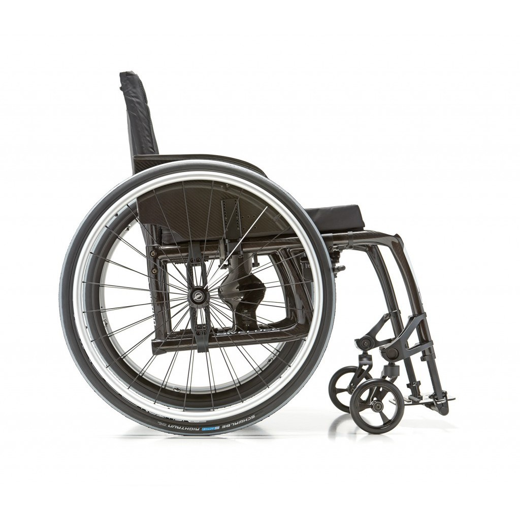 Side view of Motion Composites Veloce Ultra Lightweight Wheelchair