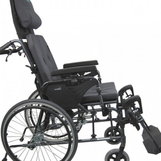 Side view of Karman Premium Self Propel Ergonomic Recliner