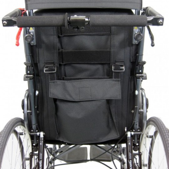 Back view of Karman Premium Self Propel Ergonomic Recliner