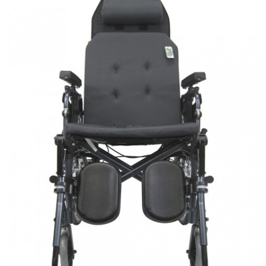 Front view of Karman Premium Self Propel Ergonomic Recliner