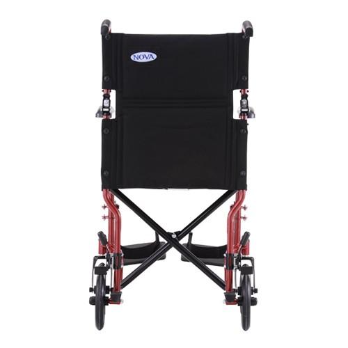 Back view of Red Nova 19 Lightweight Transport Chair
