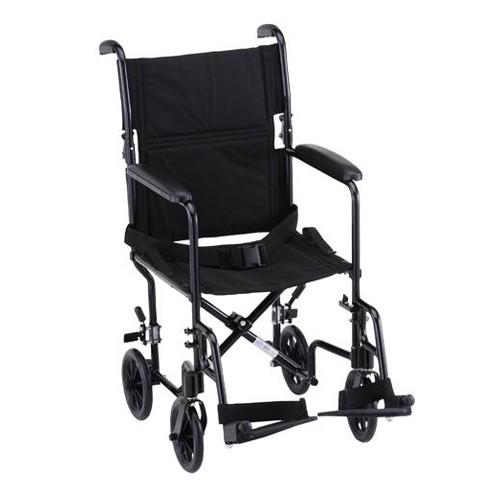Black Nova 19 inch Lightweight Transport Chair