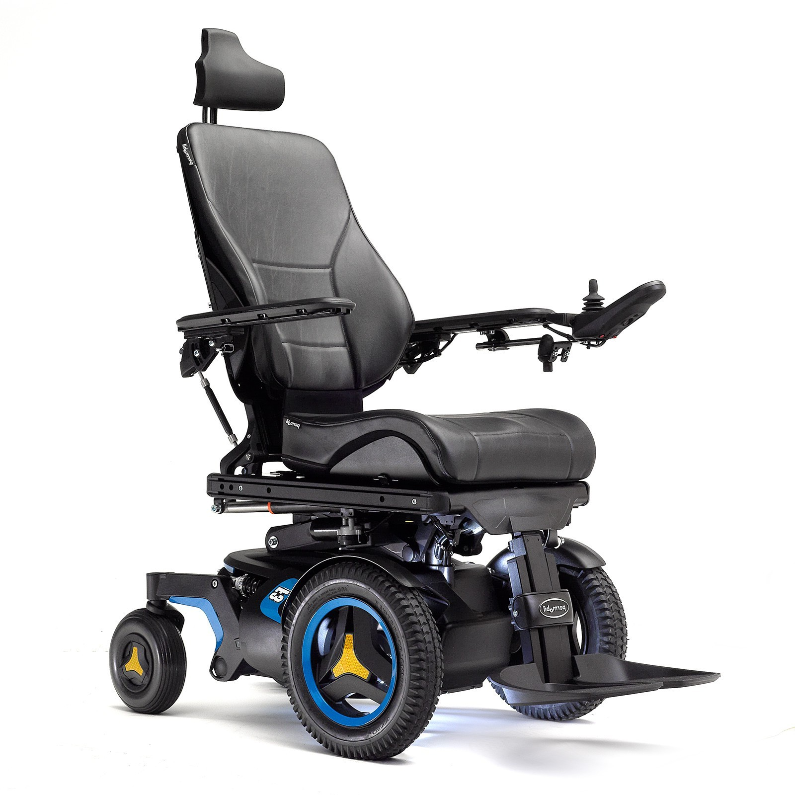 Front view of Permobil F3 Corpus Front Wheel Power Wheelchair