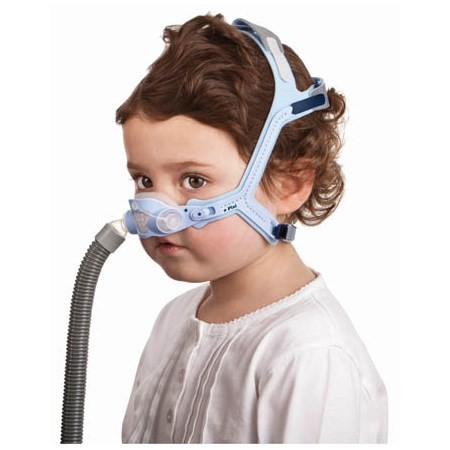 Child wearing a Pixi Pediatric CPAP Mask with Headgear