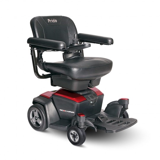 Red Pride Go Chair Travel Power Wheelchair