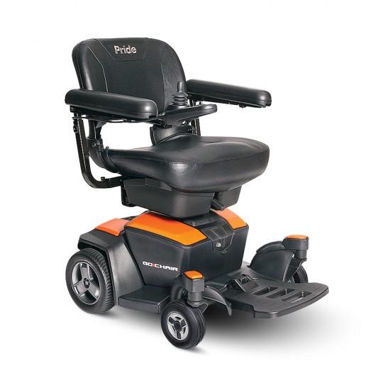 Orange Pride Go Chair Travel Power Wheelchair