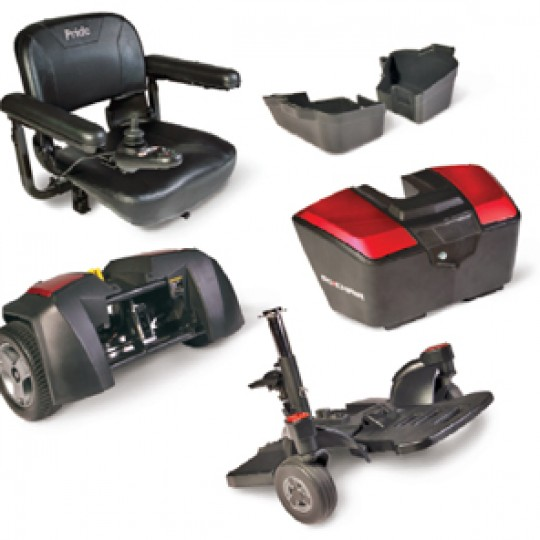 Disassembled Parts of Pride Go Chair Travel Power Wheelchair