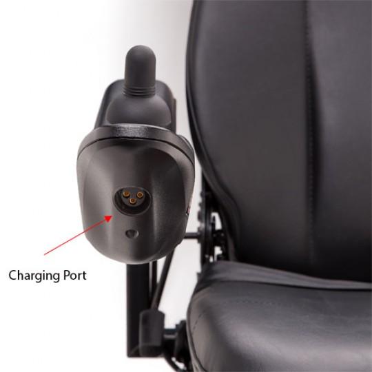 Charging Port of Pride Jazzy 600 ES Power Wheelchair