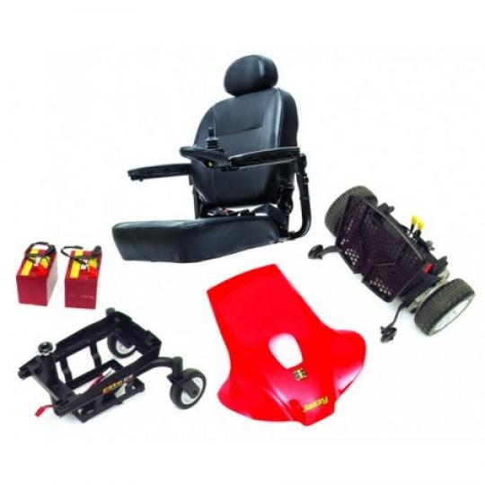 Disassembled Parts of Pride Jazzy Elite ES Portable Power Wheelchair