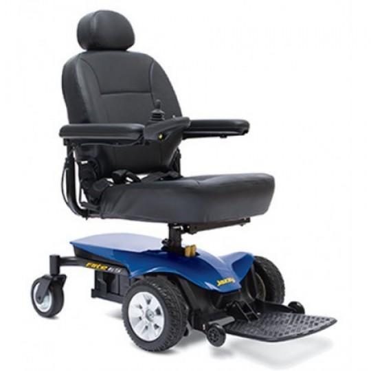 Front View of Blue Pride Jazzy Elite ES Portable Power Wheelchair