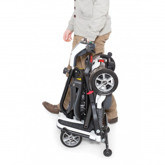Folded Pride Mobility Go-Go Folding Mobility Scooter