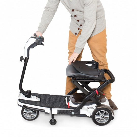 Folded Seat of Pride Mobility Go-Go Folding Mobility Scooter