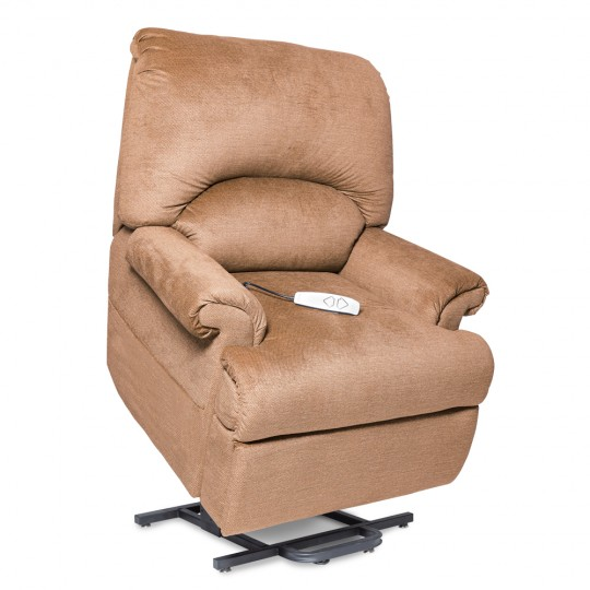 Light Brown Pride Mobility Wall Hugger 2-Position Lift Chair