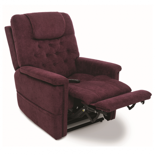 Maroon Pride Vivalift Legacy Infinite Position Lift Chair with Foot Extension