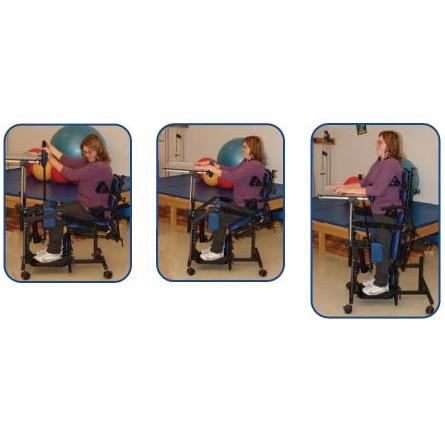Woman sitting and Standing in Prime Engineering Symmetry Stander Rental