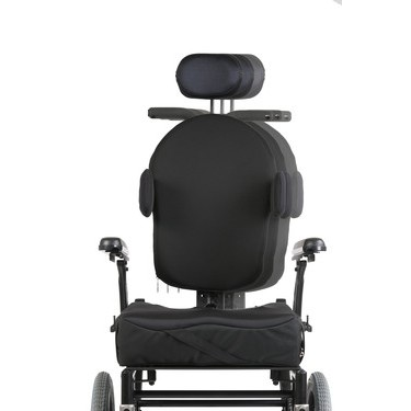 Front View of Quickie Iris Tilt-in-Space Manual Wheelchair