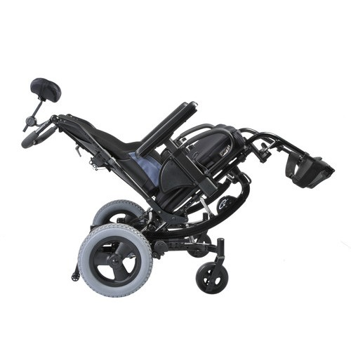 Quickie SR45 Tilt-in-Space Manual Wheelchair in tilted position