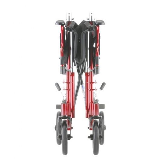 "Folded Red Nova 19"" Transport Chair"