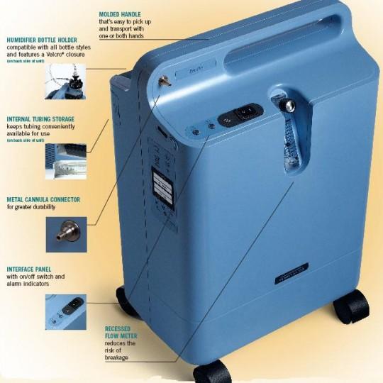 Blue Respironics Everflo Q Stationary Oxygen Concentrator