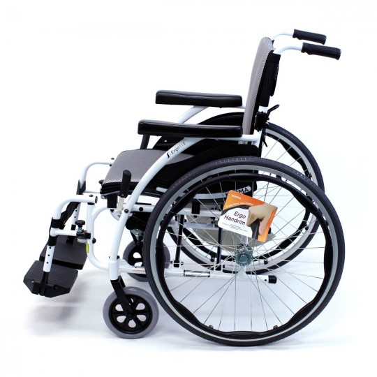 Side view of S 115 Alpine White Ultra Lightweight Wheelchair