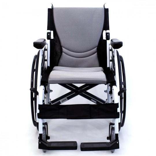 Front view of S 115 Alpine White Ultra Lightweight Wheelchair