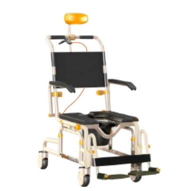 Front View of SB3T Roll-In Buddy Lightweight Shower Chair
