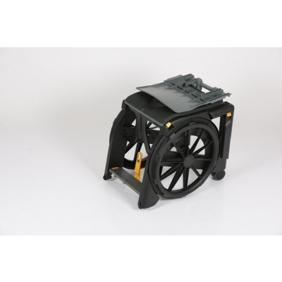 Folded Seatara WheelAble Folding Commode Shower Wheelchair