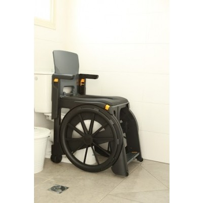Seatara WheelAble Folding Commode Shower Wheelchair over a Toilet